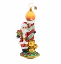 Christopher Radko Light your Holiday Santa Claus with Candle Ornament