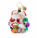 Christopher Radko Mr. & Mrs. Clause Pause Gem Ornament