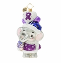 Christopher Radko Never Forget Elephant Ornament