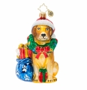 Christopher Radko Noble Yellow Lab Ornament