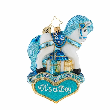 Christopher Radko Pastel Prince Pony Ornament