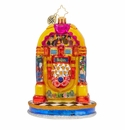 Christopher Radko Pepperland Yellow Submarine Juke Box Ornament