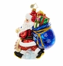 Christopher Radko Picking Up Presents Santa Claus Ornament