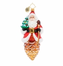 Christopher Radko Pine Cone Claus Ornament