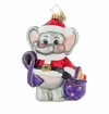 Christopher Radko Precious Memories Elephant Dressed as Santa Claus Ornament