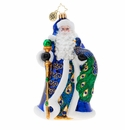 Christopher Radko Princely Peacock Santa Ornament