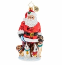 Christopher Radko Promenading Pups Ornament