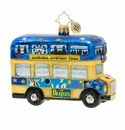 Christopher Radko Psychedelic Magical Mystery Bus! Ornament