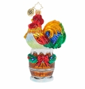 Christopher Radko Raise the Alarm Rooster! Ornament