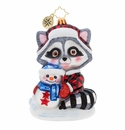 Christopher Radko Rambunctious Racoon Ornament