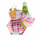 Christopher Radko Ready to Party Pig! Ornament