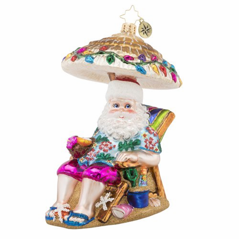 Christopher Radko Relaxing by the Beach Ornament