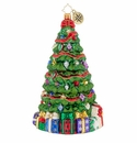 Christopher Radko Ribbon Wrapped Cypress Tree! Ornament