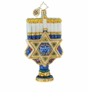 Christopher Radko Rich With Tradition Menorah with Star Ornament