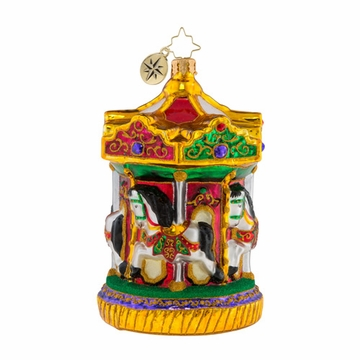 Christopher Radko Rollicking Round About! Horses on Carousel Ornament