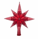 Christopher Radko Ruby Stellar Tree Topper Ornament