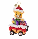 Christopher Radko Santa Bear Delivery! Ornament