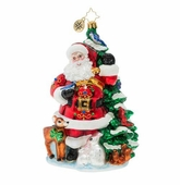 Christopher Radko Santa Claus Ornaments