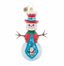 Christopher Radko Santa's Tied Up Right Now Snowman Ornament