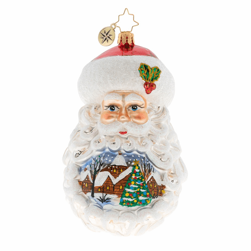 Christopher Radko Santa Setting The Scene Ornament