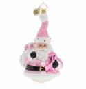Christopher Radko Santa Wears Pink Ornament