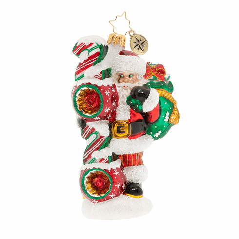 Christopher Radko Santas 2020 Vision Ornament