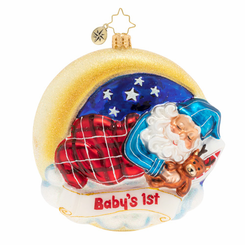 Christopher Radko Santa's First Snooze Baby's First Christmas Ornament