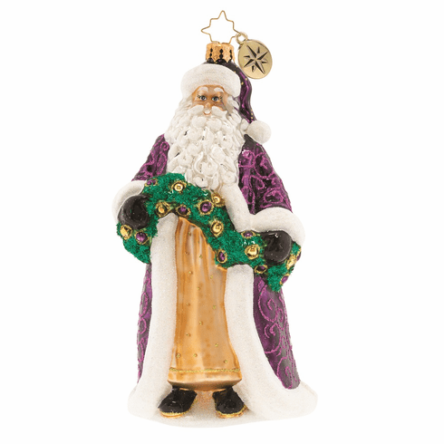 Christopher Radko Santas Got a Brand New Coat Ornament