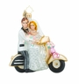 Christopher Radko Scoot Along to Happiness Wedding Couple on Motorcycle Ornament
