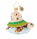 Christopher Radko Sea And Castle Gem Sea Turtle Ornament