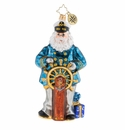 Christopher Radko Seven Seas Santa Ornament