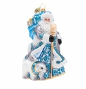 Christopher Radko Silver Lining Santa Ornament