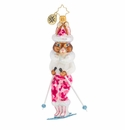 Christopher Radko Skiing Snow Bunny Ornament