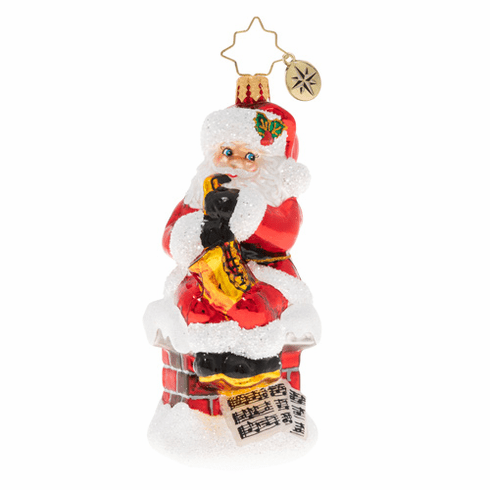 Christopher Radko Smooth-Jazz Santa Ornament