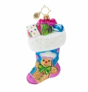 Christopher Radko Something Sweet Stocking Ornament