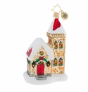 Christopher Radko Stained Glass Christmas Mass Church Ornament