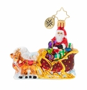 Christopher Radko Stellar Ride, Santa! Gem Ornament