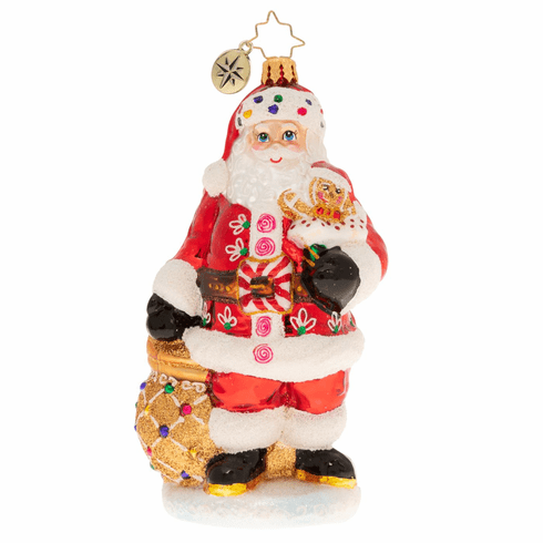 Christopher Radko Sweet Delivery For All! Santa Claus Ornament