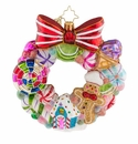 Christopher Radko Sweetest Swirl Wreath Ornament