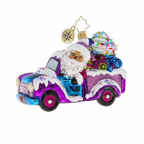Christopher Radko Sweets By The Truckload Santa Claus Ornament