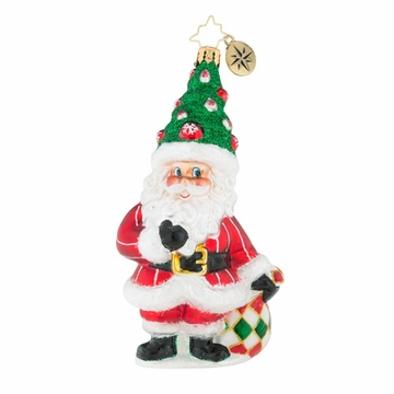 Christopher Radko Tannenbaum Topper Santa Claus Ornament