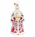 Christopher Radko Tea Time Santa Ornament