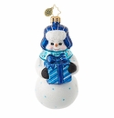 Christopher Radko The Gift of Giving Snowman Ornament