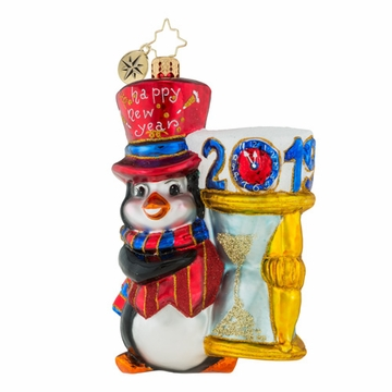 Christopher Radko The Golden Hour 2019 New Year Ornament - Penguin