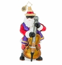 Christopher Radko The Jazzy Juggernaut Ornament - Santa with String Bass