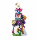 Christopher Radko Time For Spring Snowman Ornament