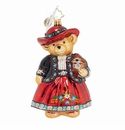 Christopher Radko Time For Tea Muffy Bear Ornament