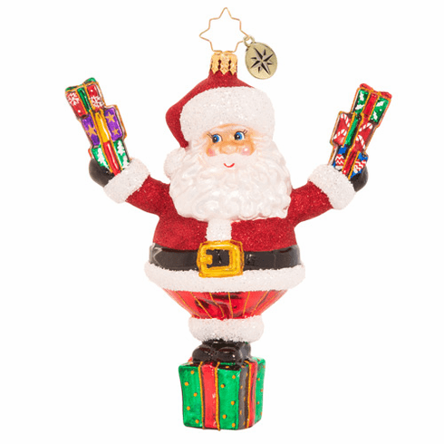 Christopher Radko Top Of His Game Claus Ornament