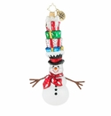 Christopher Radko Top This! Snowman Ornament