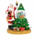 Christopher Radko Treasured Trimmings Santa Claus & Christmas Tree Snowglobe